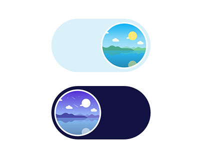 Toggle button design - Morning/Evening Mode-