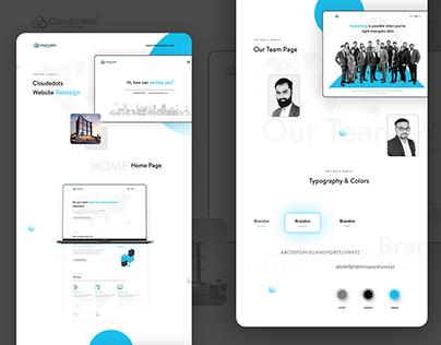 Cloudedots Website Redesign