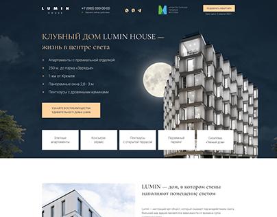 Landing page — Luxury real estate