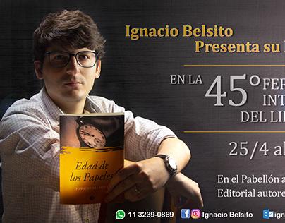 """Flyer para el libro """"Edad de los Papeles"""""""