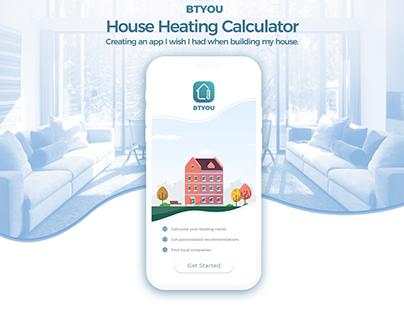 BTYOU House Heating Calculator App