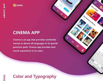 Cinema app (Adobe xd daily challenge)