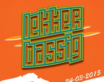 """""""Lekker Bassig"""" Party Banner + Poster"""