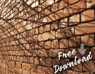 FREE Textures: Scanned Worn Loft Brick Wall