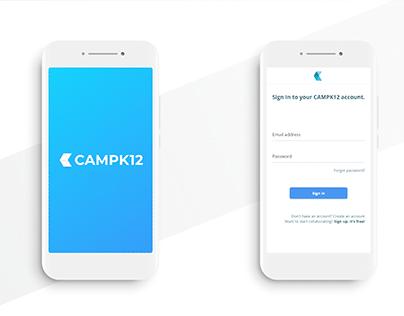 CAMPK12 Mobile App Layout