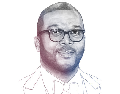 Tyler Perry portrait for 'Variety'.