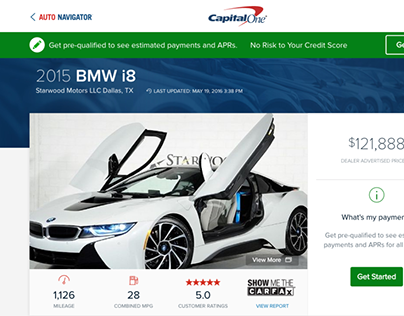 Capital One Auto Navigator AngularJS Front End CSS/HTML