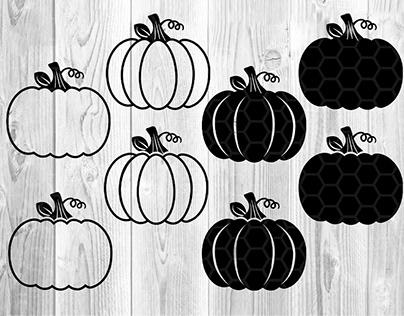Halloween Pumpkin SVG Cut Files