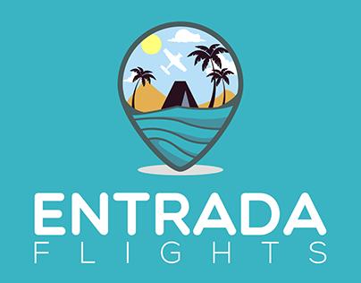Entrada Flights - Logo Design