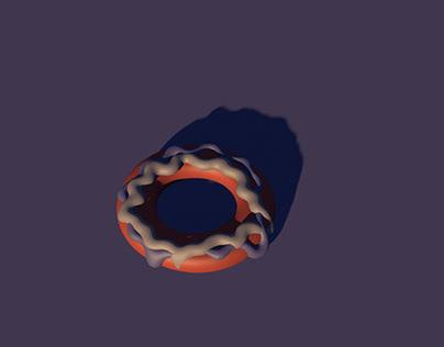 Doughnut with purple theme