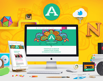 Alakoulun aarreaitta - Visual identity and web design