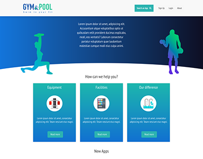 Gym website - demo