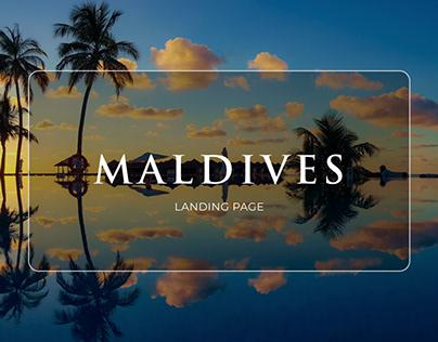 Maldives Landing page