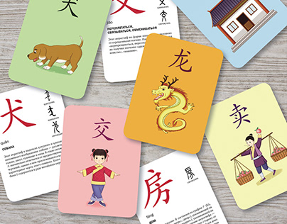 Design and layout of cards for learning Chinese