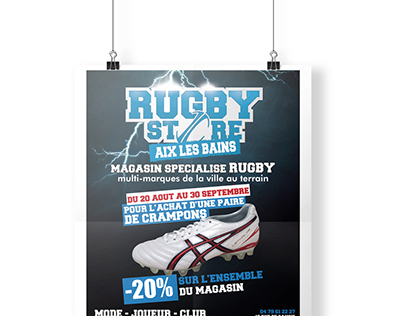 Affiche Rugby Store