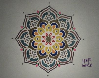 My first stencil mandala 1/8/2021
