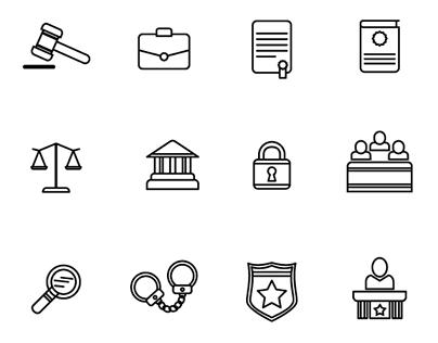 Free Legal Line Icons