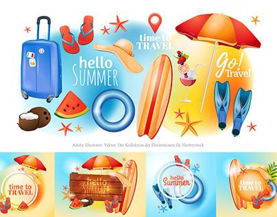 Illustration. Summer vacation