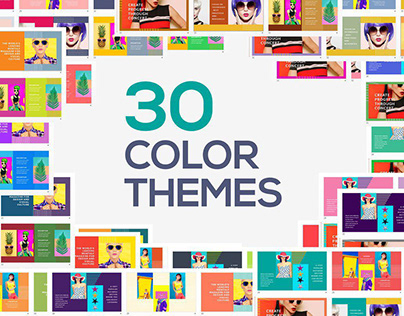 Candy Powerpoint Templates - 300 Colorful Slides