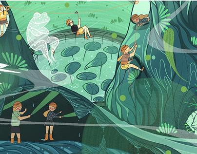 Outdoor paradise illustration