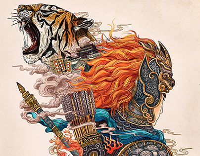 《止狩台》小说封面插图设计