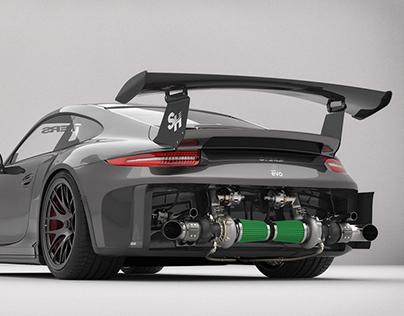 Porsche GT3RS Ariandesign EVO Studio shoots