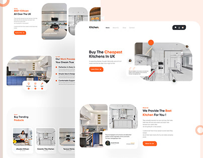 Kitchen Landing Page