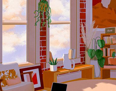 Interior Design illustrations