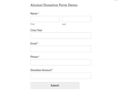 Alumni Donation Form