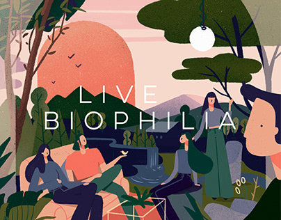 Live Biophilia - Illustrated Poster