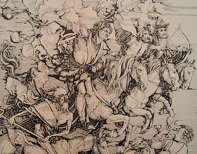 The Four Horsemen of the Apocalypse (Durer copy)