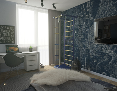 Room for a boy in a modern style