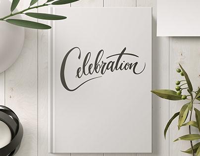 Celebration handlettering logo