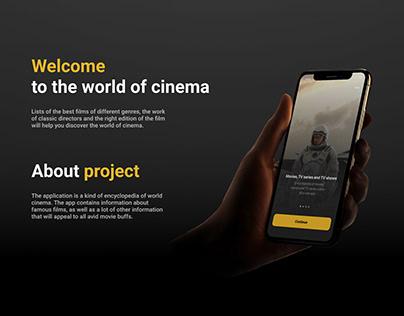 World of cinema App   UI/UX