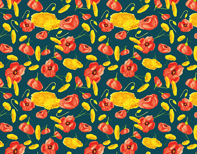 Wildflowers pattern collection