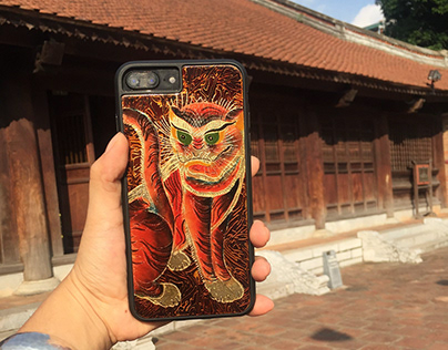 Vietnamese lacquer on iphone case