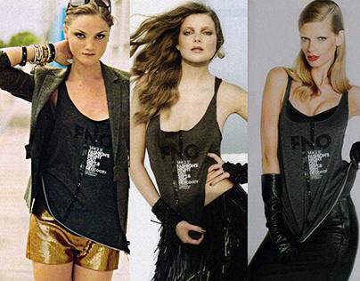 Camiseta/shopping bag oficial Vogue FNO 2011