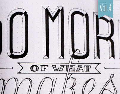 Hand-lettered Sketches – Vol. 4