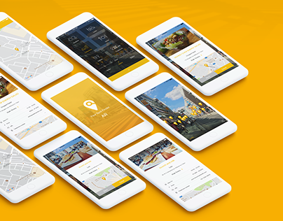 Smartphone app UI concept using AR technology