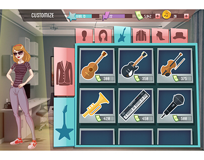 Pop Star UI/Backgrounds concept
