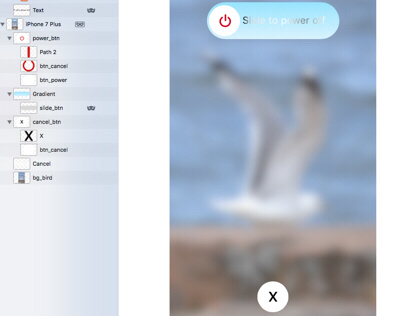 Simulating iOS 11 Slide to Power Off in Kite Compositor
