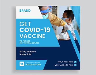 Covid 19 Vaccination Program Social Media Post Template