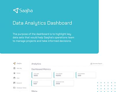 Saajha Dashboard | Web Product Design
