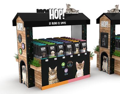 HOP: Pet food. POP design for supermarket