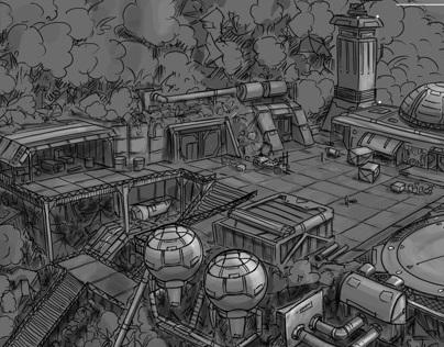 GearedMind Studio - Launch Pad Concept Art