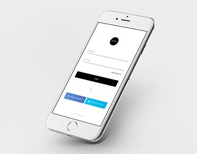 Login iPhone Mock-ups