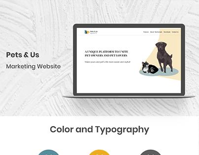 Pets & Us- Web Presentation