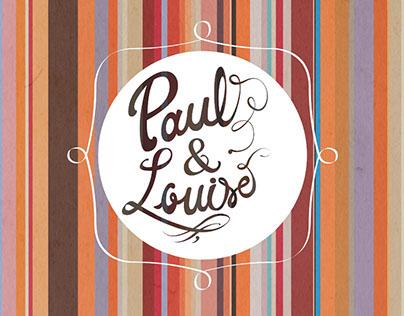 Paul & Louise - graphic identity