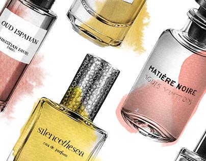 Citizen K x Perfume Illustrations