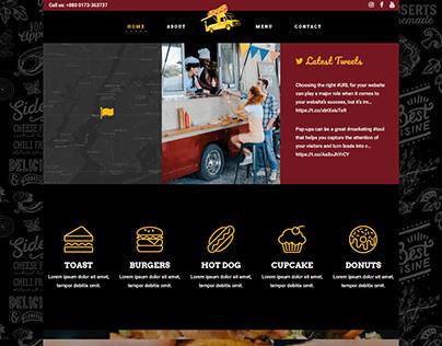 Food Truck Business WordPress website